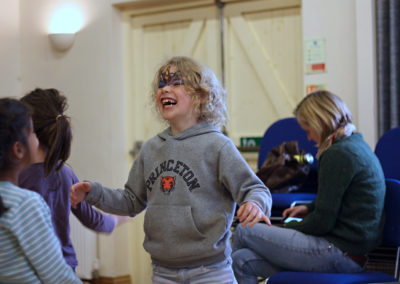 Children laughing in workshop